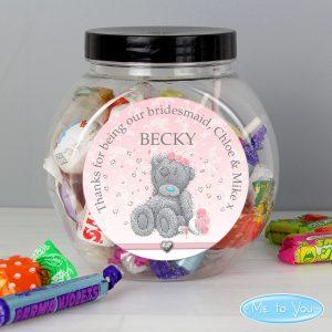 Personalised Me To You Bridesmaid Sweet Jar
