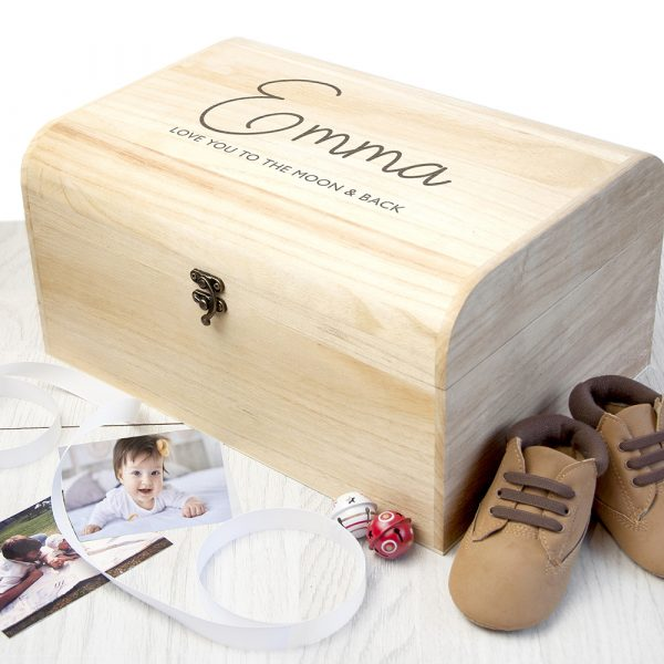 Personalised Special Message Keepsake Chest