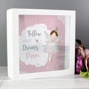 Personalised Fairy Princess Fund & Keepsake Box