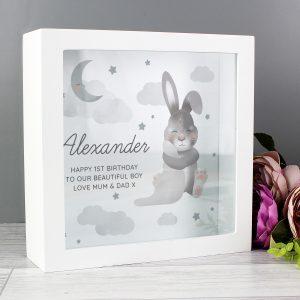 Personalised Baby Bunny Memory Keepsake Box