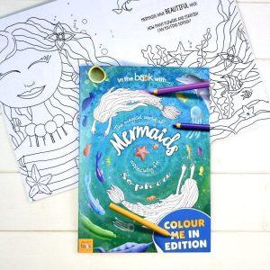 Personalised Mermaid Colouring Book