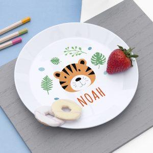 Personalised Kids Jungle Animal Plastic Plate