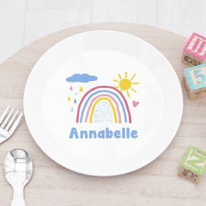 Personalised Kids Pastel Sky Plastic Plate