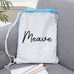 Kids Hidden Message Sequin Bag - Blue