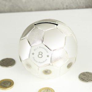 Personalised Big Age Football Money Box