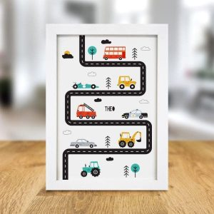 Personalised Little Car A3 Framed Print