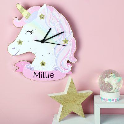 Personalised Unicorn Clock